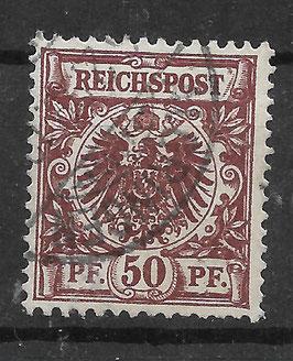 Deutsches Reich KRONE & ADLER 50ba gestempelt (BPP ZENKER) (2)