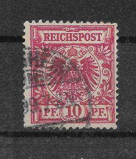 Deutsches Reich KRONE & ADLER 47da gestempelt (BPP WIEGAND)