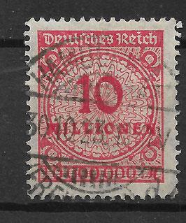 Deutsches Reich FREIMARKE 318 AP gestempelt (INFLA)