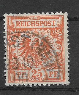 Deutsches Reich KRONE & ADLER 49ba gestempelt (BPP WIEGAND)