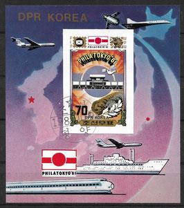 Nordkorea Block 102 gestempelt