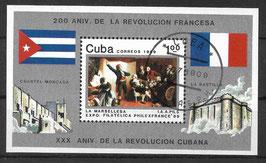 CUBA Block 116 gestempelt