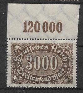 Deutsches Reich FREIMARKE ZIFFERN 254b postfrisch (BPP BAUER)