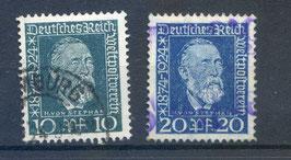 Deutsches Reich 50 JAHRE WELTPOSTVEREIN 368-369 gestempelt