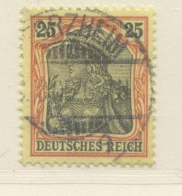 Deutsches Reich GERMANIA o. WZ 73 gestempelt (IV)