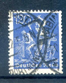 Deutsches Reich FREIMARKE 168 gestempelt