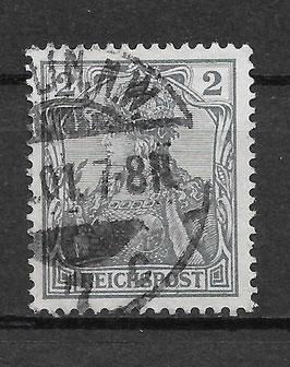 Deutsches Reich REICHSPOST 53 gestempelt (VI)