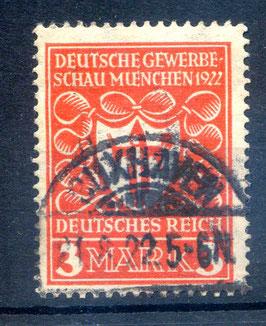 Deutsches Reich GEWERBESCHAU 201 gestempelt