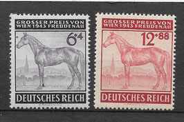Deutsches Reich GALOPPRENNEN GROßER PREIS von WIEN 857-858 postfrisch