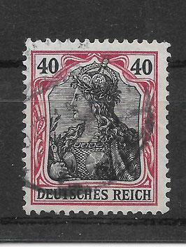 Deutsches Reich GERMANIA 90 I gestempelt (BPP ZENKER)