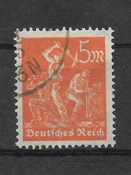 Deutsches Reich FREIMARKE ARBEITER 238 gestempelt (INFLA)