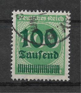 Deutsches Reich FREIMARKE 290 gestempelt (INFLA) (3)