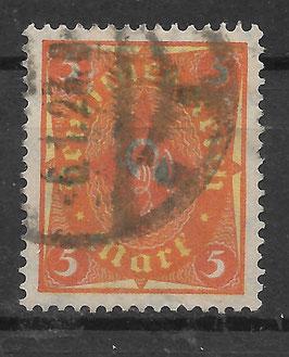 Deutsches Reich POSTHORN 205 W gestempelt (INFLA)