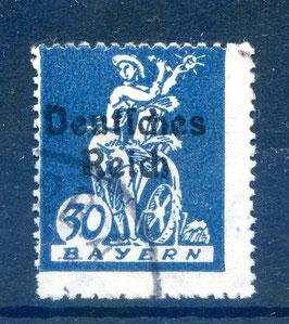 Deutsches Reich  FREIMARKE 123 gestempelt