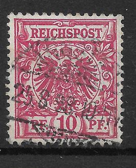 Deutsches Reich KRONE & ADLER 47d gestempelt (BPP ZENKER)