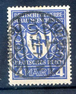 Deutsches Reich GEWERBESCHAU 202 gestempelt