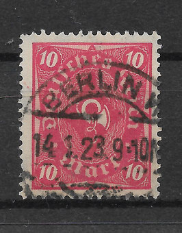 Deutsches Reich POSTHORN 206 W gestempelt (INFLA)