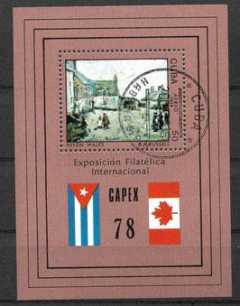 CUBA Block 54 gestempelt