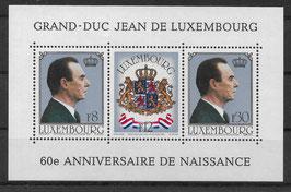 Luxemburg Block 13 postfrisch (2)