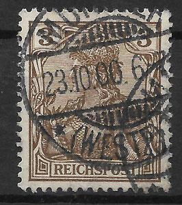 Deutsches Reich REICHSPOST 54a gestempelt (BPP JÄSCHKE) (IV)