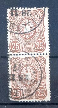 Deutsches Reich PFENNIGE 35a gestempelt als PAAR (BPP JÄSCHKE) (2)