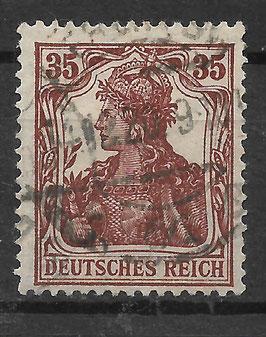 Deutsches Reich GERMANIA 103b gestempelt (INFLA)
