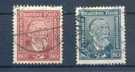 Deutsches Reich FREIMARKE 362-363 gestempelt