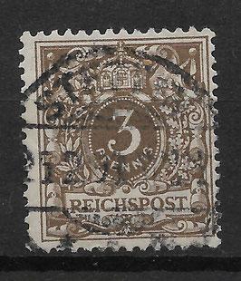 Deutsches Reich KRONE/ADLER 45b gestempelt (BPP JÄSCHKE) (III)