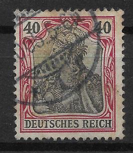 Deutsches Reich GERMANIA o. WZ 75 gestempelt (II)