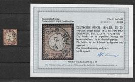 Deutsches Reich BRUSTSCHILD 21b gestempelt (Befund BPP KRUG)