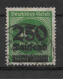 Deutsches Reich FREIMARKE 293 gestempelt (INFLA)