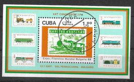 CUBA Block 115 gestempelt