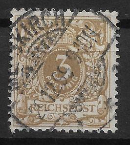 Deutsches Reich KRONE/ADLER 45cb gestempelt (BPP WIEGAND) (II)