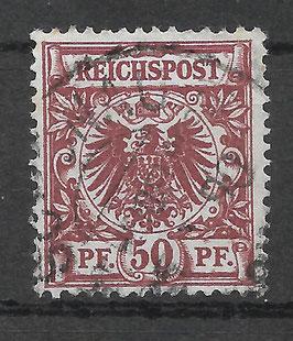 Deutsches Reich KRONE & ADLER 50a gestempelt (BPP ZENKER)