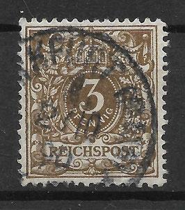 Deutsches Reich KRONE & ADLER 45a gestempelt (BPP WIEGAND) (13)