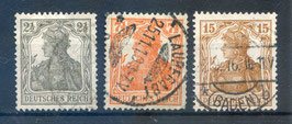Deutsches Reich GERMANIA 98-100 gestempelt (2)