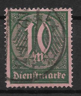Deutsches Reich DIENST 68a gestempelt (INFLA)