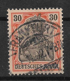 Deutsches Reich GERMANIA o. WZ 74 gestempelt (IV)