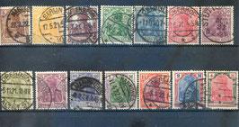 Deutsches Reich GERMANIA 140-153 gestempelt