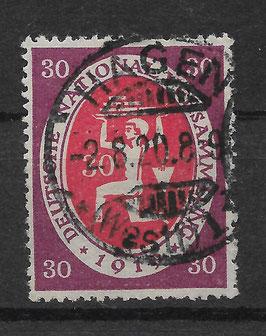 Deutschs Reich NATIONALVERSAMMLUNG 110a gestempelt (INFLA)