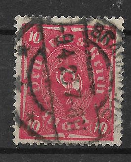 Deutsches Reich POSTHORN 206 W gestempelt