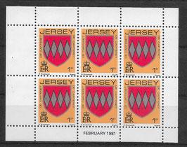 Jersey Kleinbogen 243 A postfrisch (2)