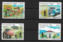 NICARAGUA 2531-2534 gestempelt