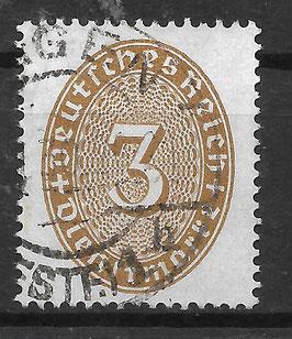 Deutsches Reich DIENST 114 X gestempelt