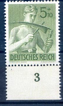Deutsches Reich ARBEITSDIENST 851 postfrisch als Unterrandstück