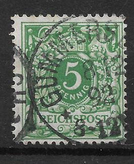 Deutsches Reich KRONE & ADLER 46c gestempelt (BPP ZENKER)