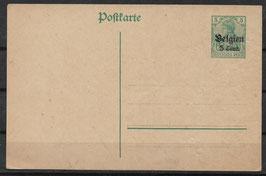 Deutsches Reich BESETZUNG 1. WK BELGIEN P 9 ungebraucht (4)