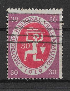 Deutschs Reich NATIONALVERSAMMLUNG 110b gestempelt (BPP BAUER)
