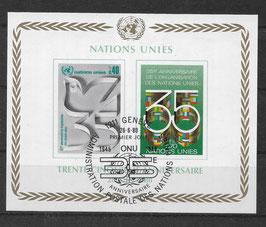 UNO Genf Block 2 gestempelt