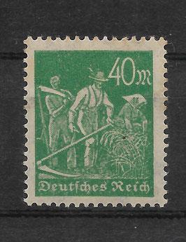 Deutsches Reich FREIMARKE ARBEITER 244a postfrisch (BPP BAUER)